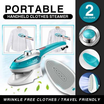 portable handheld garment steamer blue
