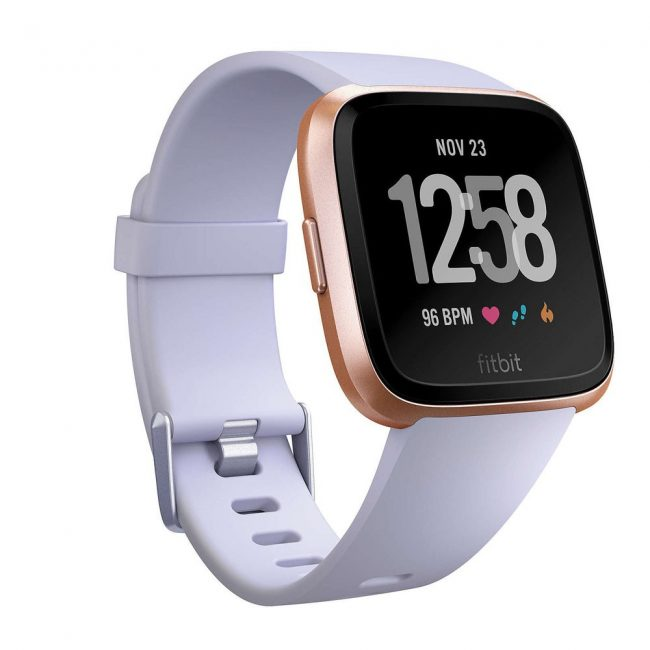 fitness tracker fitbit versa smart fitness watch white