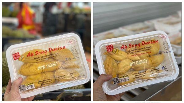 durian delivery singapore ah seng durian famous vendor mao shan wang sealed pack