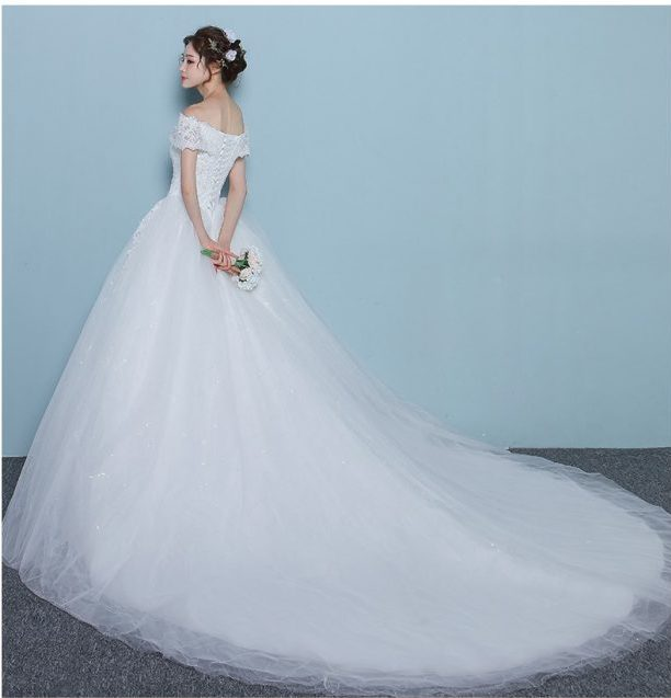 wedding dresses online sequined off shoulder ball gown