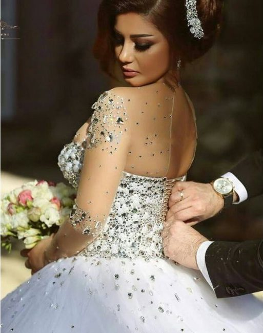 wedding dresses online luxurious crystal ball gown