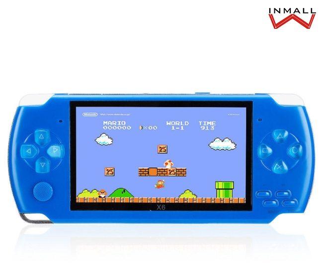8-bit games retro game console handheld blue psp