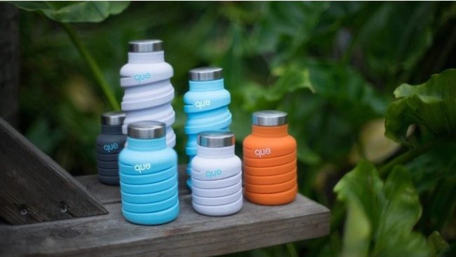 que collapsible silicone bottle small