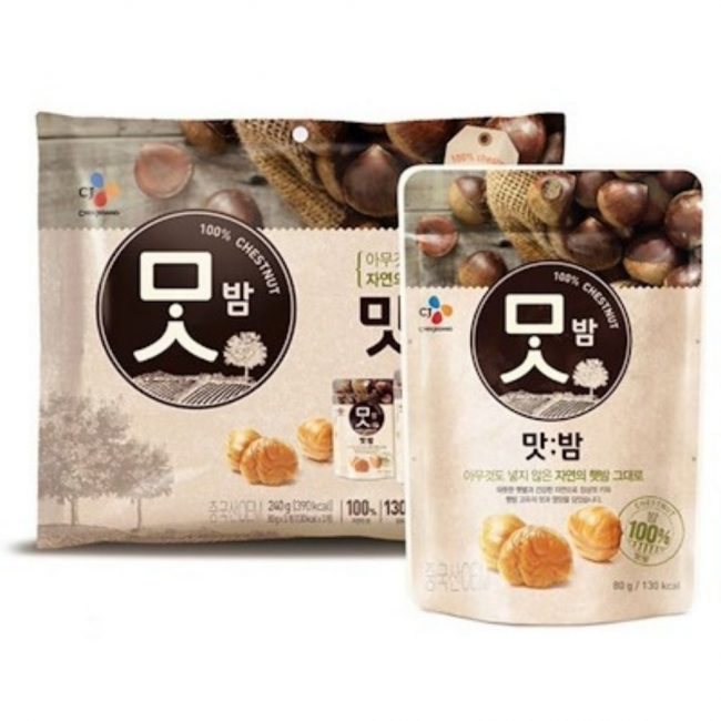 korean diet meal replacement singapore cj real roasted chestnut low calorie snack