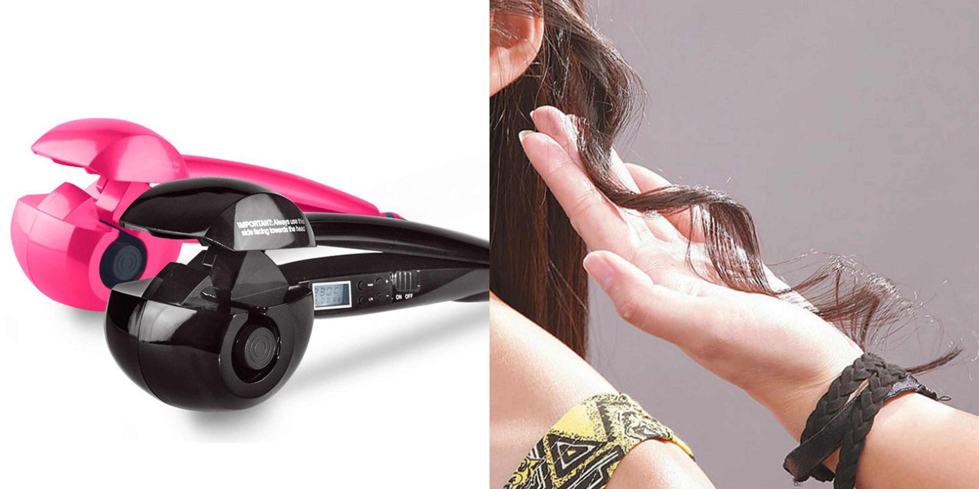 lcd titanium magic hair curler in singapore