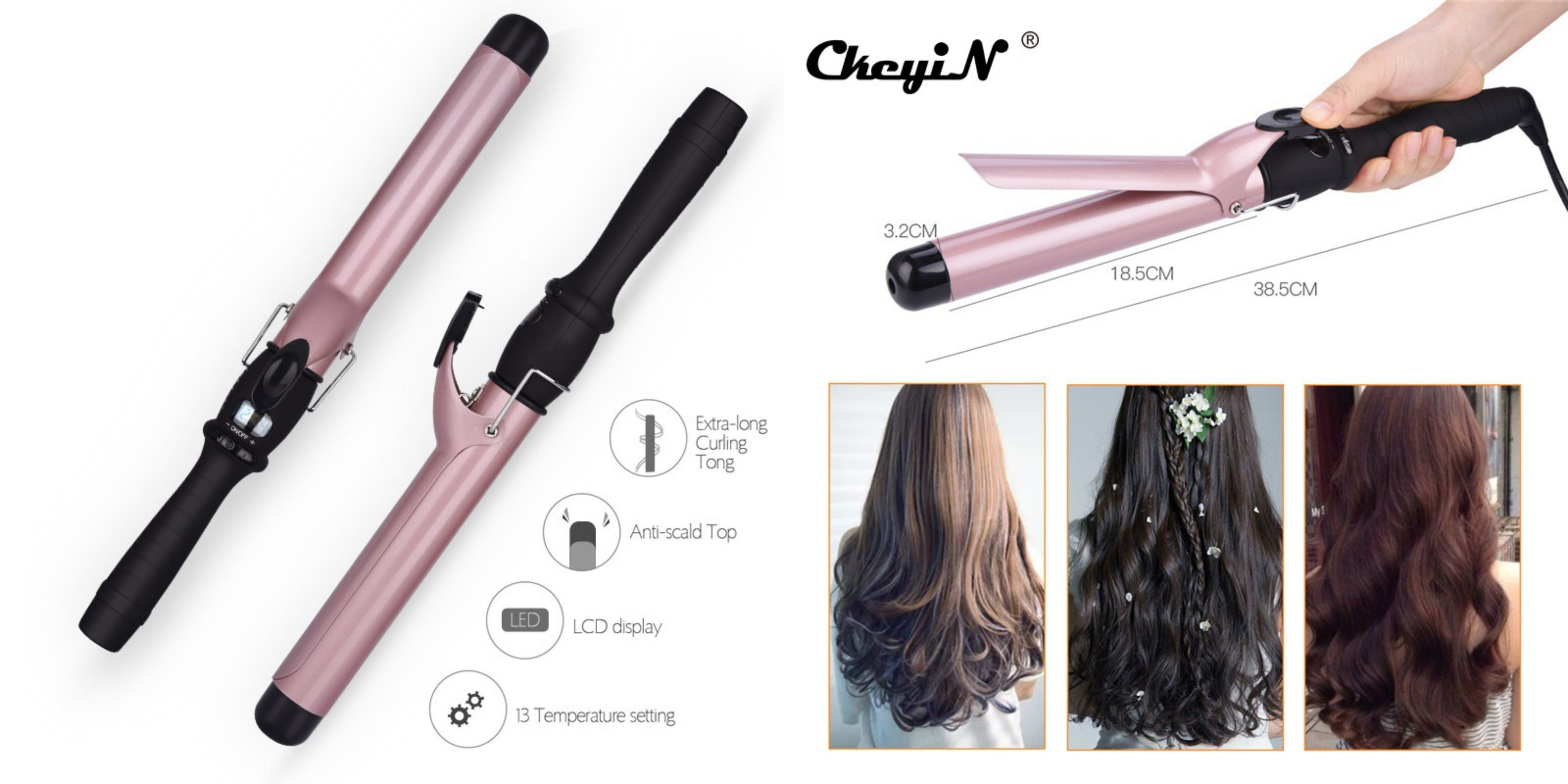 lcd adjustable hair curler in singapore