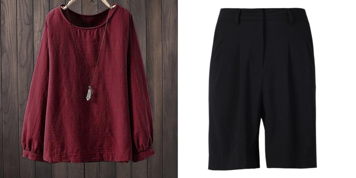 red blouse black casual culottes singapore national day outfit