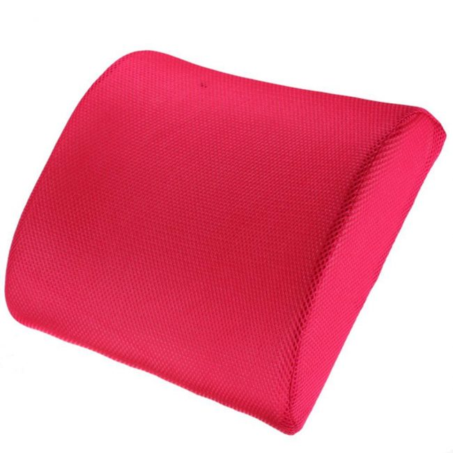 back support for office chair memory foam cushion pillow pink