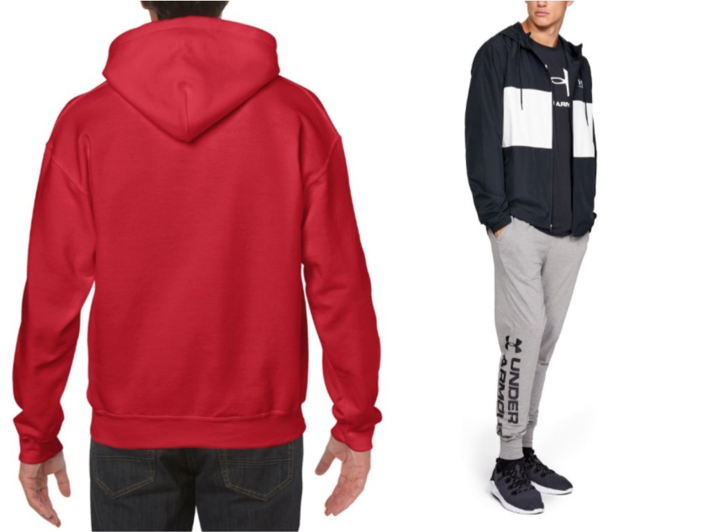 red hooded sweatshirt grey joggers red and white outfit singapore national day