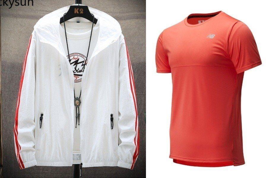white windbreaker red dri fit shirt singapore national day