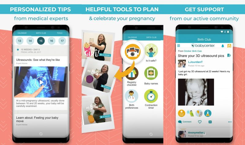 best pregnancy app babycentre tracker baby videos images bumpie photo diary