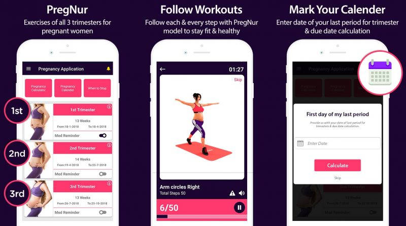 best pregnancy app exercise and workout at home prenatal mum