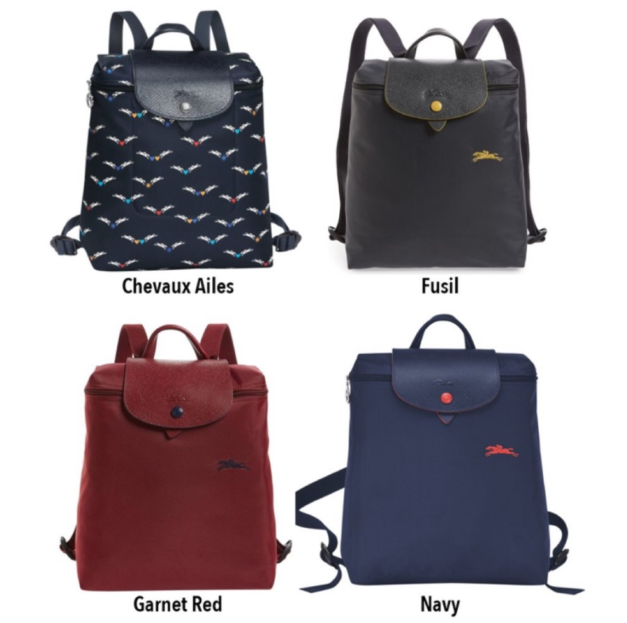 Longchamp Le Pliage Club and 1699 Series Backpacks