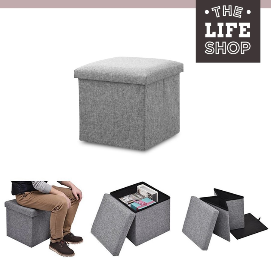Foldable Fabric Storage Stool/Ottomans