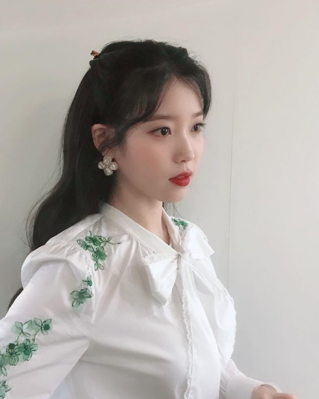 kpop hairstyle iu hotel del luna korean drama long hair idol