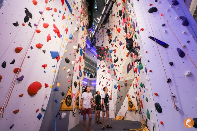 climbing gym singapore climb central kallang tallest indoor rock wall