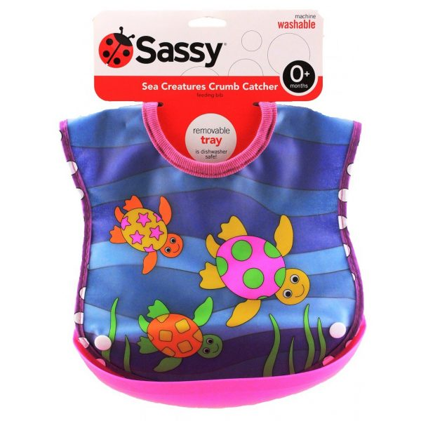 newborn checklist sassy crumb catcher bib sea creatures