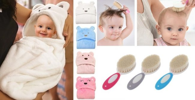 newborn checklist essentials bath hooden towel baby comb brush