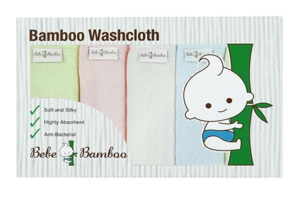bebe bamboo 100 washcloth gentle to skin natural