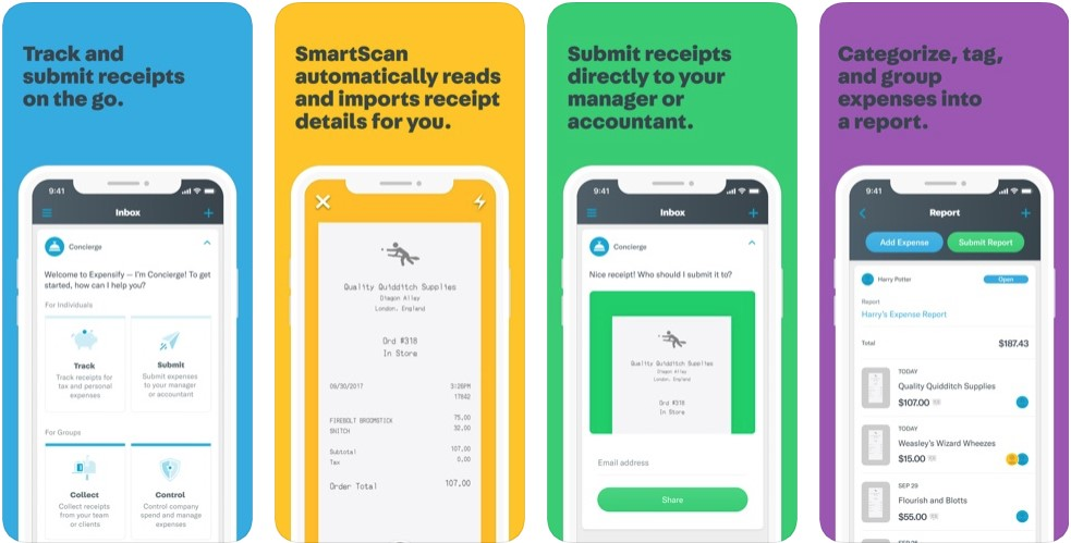 expensify best expense tracker apps