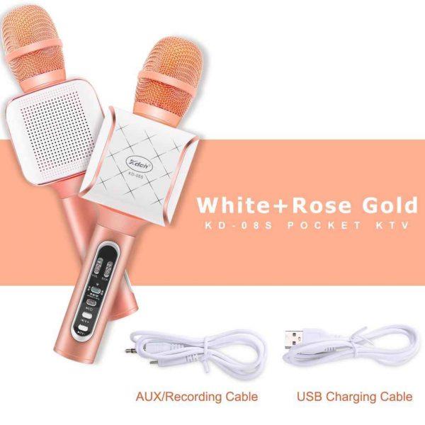 home karaoke system singapore rose gold wireless bluetooth microphone