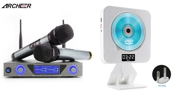 home karaoke system singapore dual microphone wall mount portable dvd player