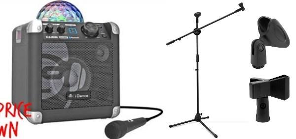 home karaoke system singapore idance cube disco light microphone stand