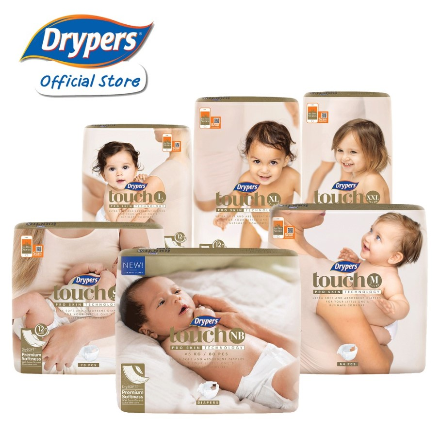 Drypers Touch Premium Baby Diapers