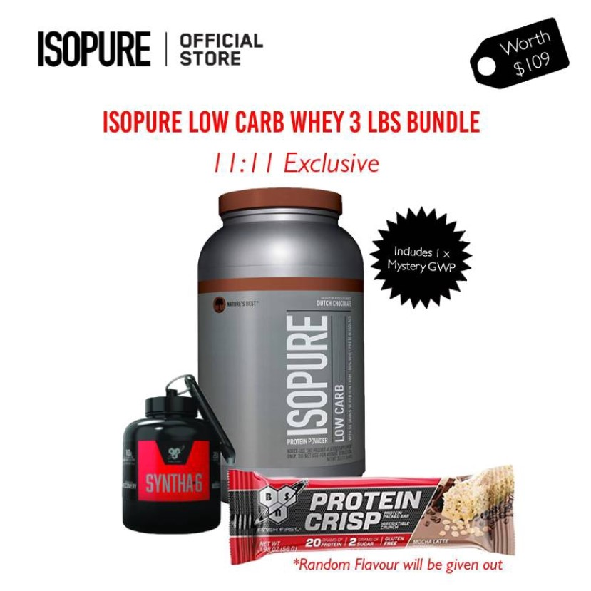 Isopure Low Carb Whey 3 lbs Bundle