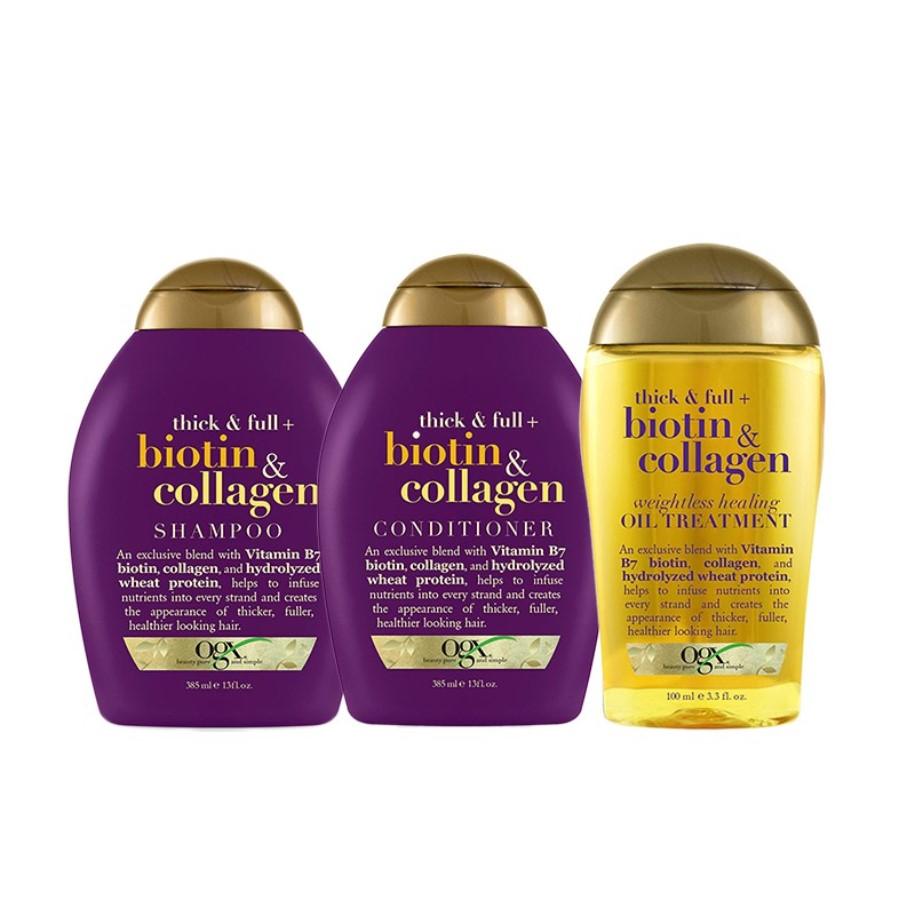 OGX Shampoo, Conditioner, Treatment Value Bundle