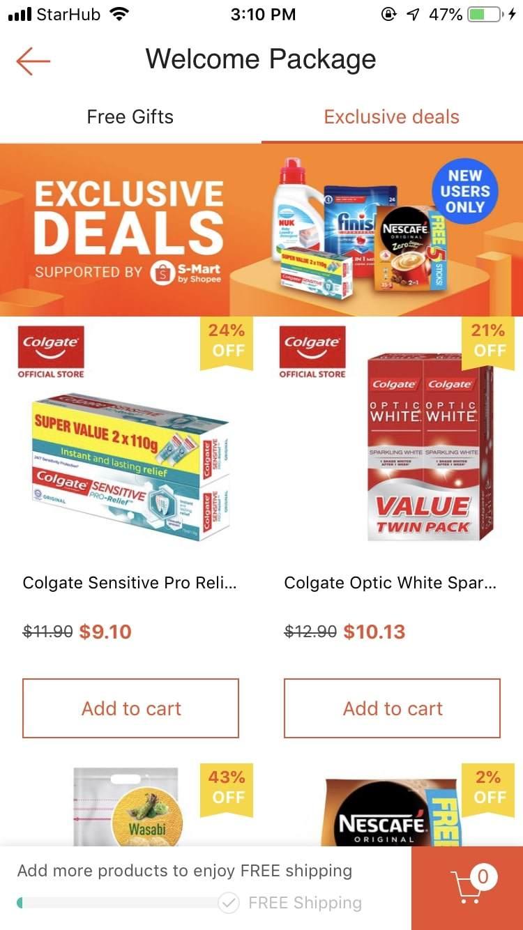 shopee exclusive deals