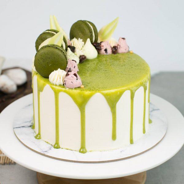 best matcha cake singapore baker's brew azuki green