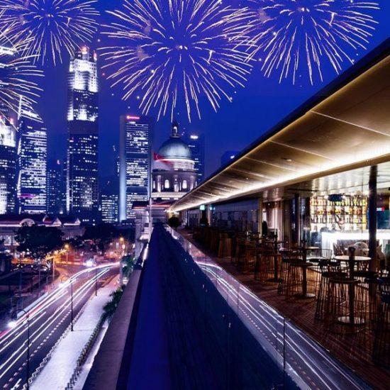 romantic restaurants singapore aura national gallery