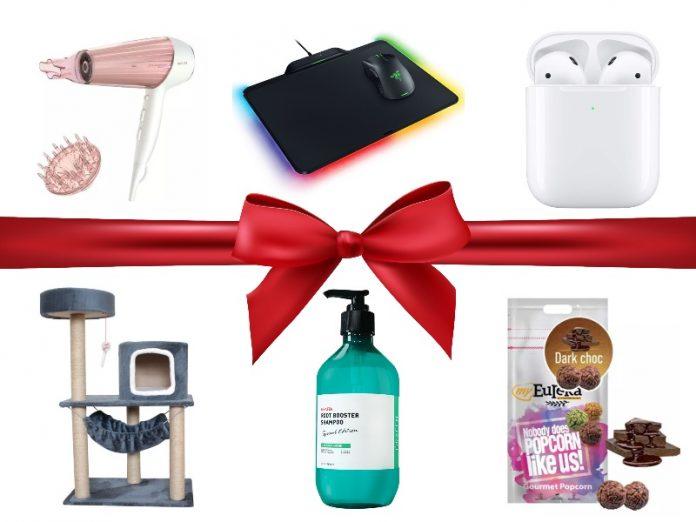 christmas gift ideas 2019 philips hair dryer razer firefly apple airpods cat tree grafen shampoo myeureka popcorn
