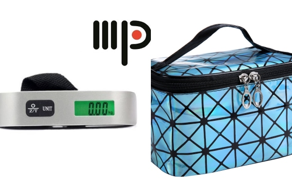luggage scale and cosmetic bag secret santa gift singapore