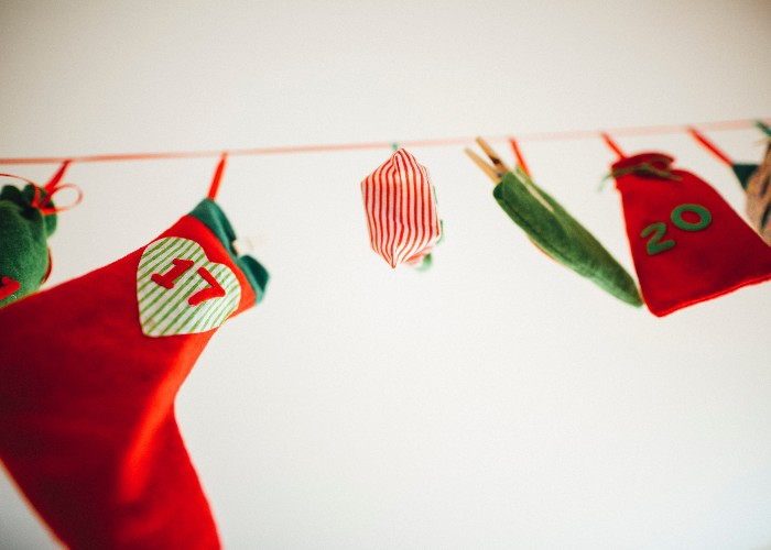 stocking race christmas party game