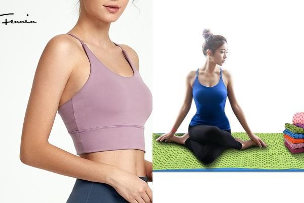 yoga top and towel mat secret santa gift singapore