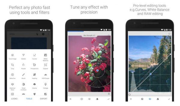 best free photo editing app smartphone snapseed