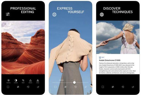 best photo editing app smart phone vsco