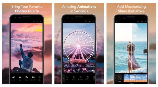best photo editing app enlight pixaloop gif boomearang