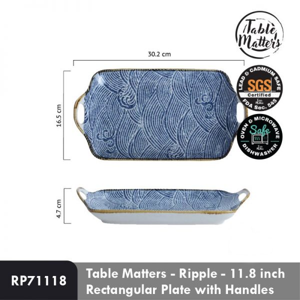budget christmas gift idea 2020 singapore table matters ripple collection rectangular plate