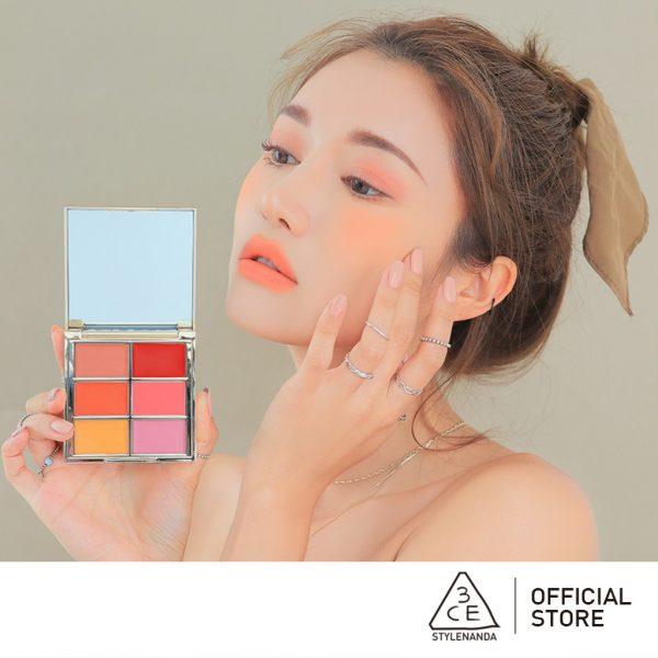 3ce multi pot palette eyeshadow blusher lip makeup