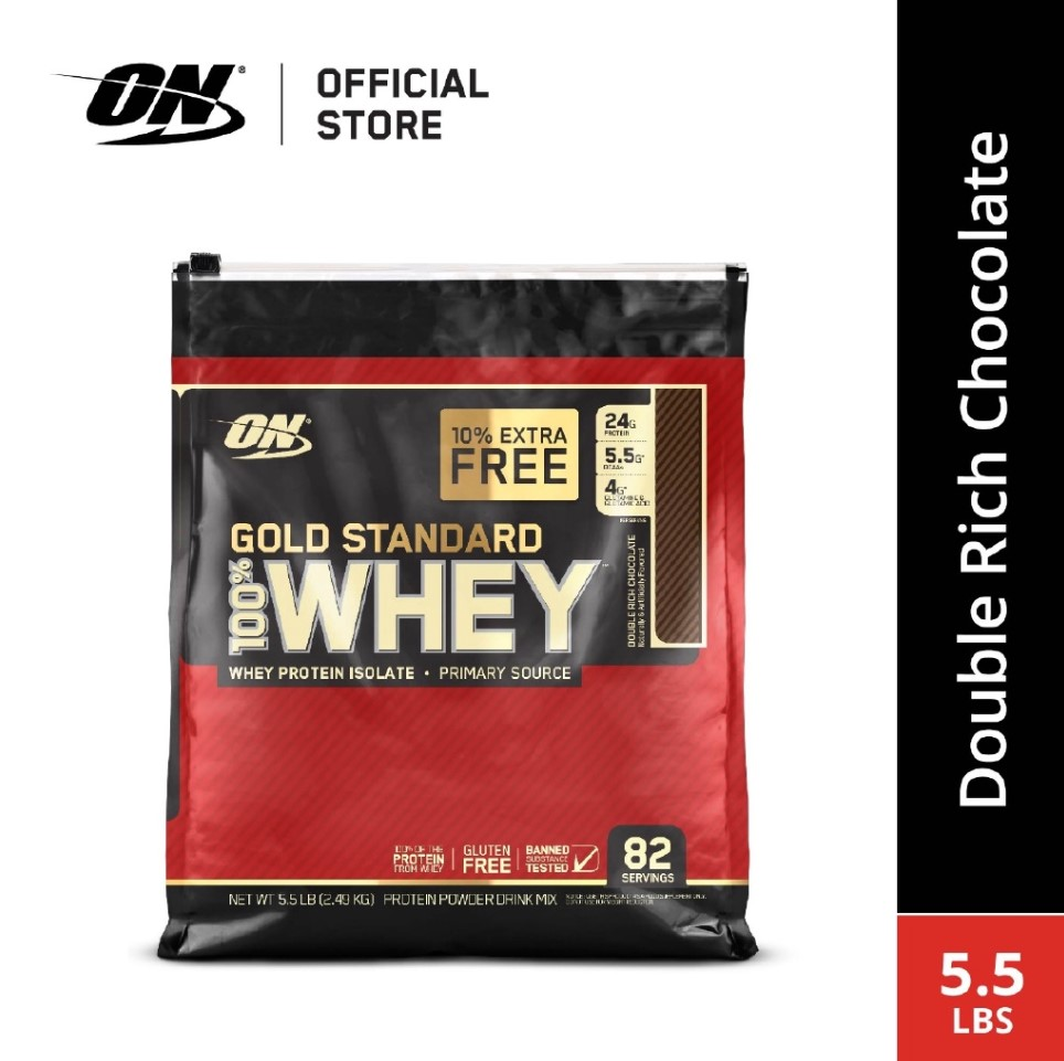 Optimum Nutrition Gold Standard Whey 5.5 lbs - Double Rich Chocolate