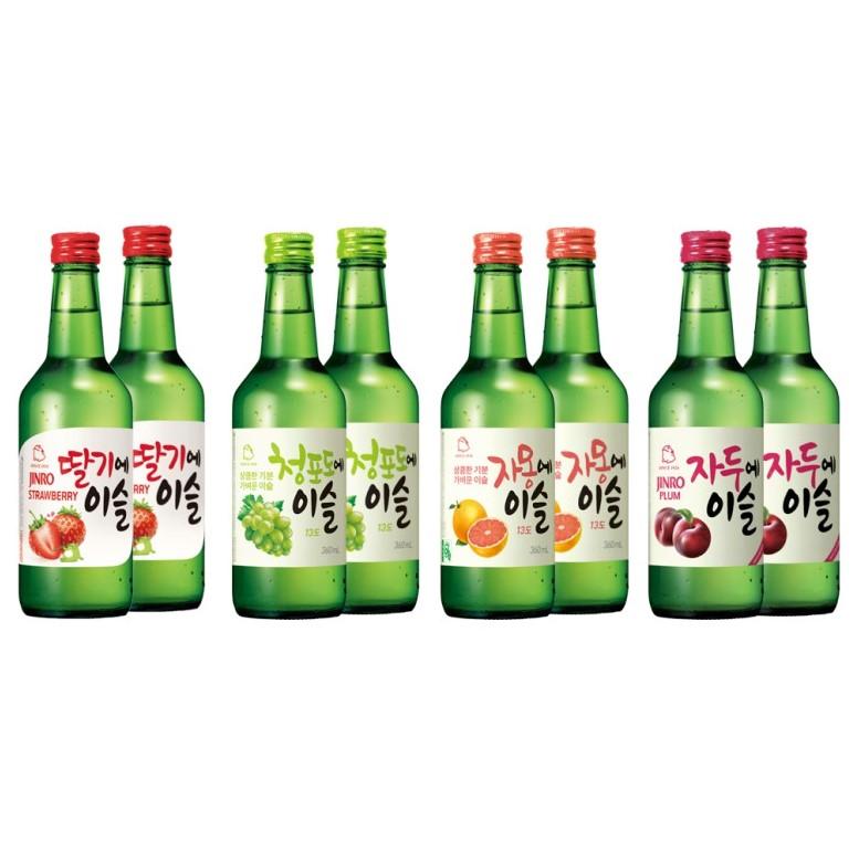 Jinro Soju 8 bottle set