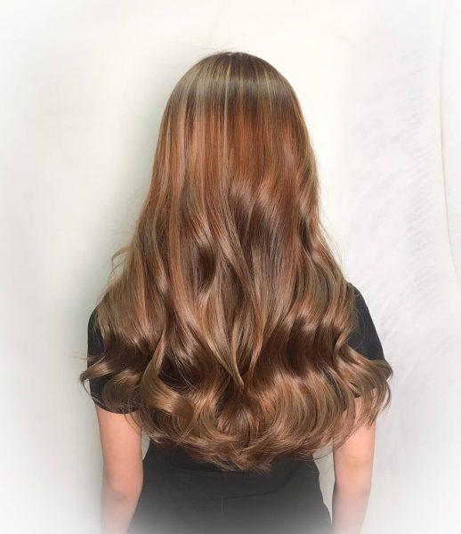 best hair colour for asian honey brown hair