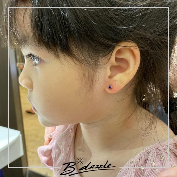 ear piercing for kids singapore b'dazzle girl with earring