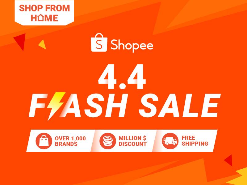 Shopee 4 4 Flash Sale Get Your Hands On Million Discount Limited Deals 0 99 Flash Deals More