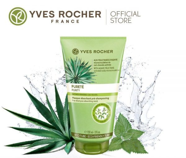 yves rocher purity hair mask for oily hair