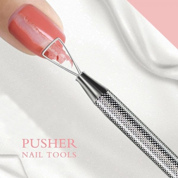 how to remove gel nails scrape off polish with triangle gel polish pusher remover