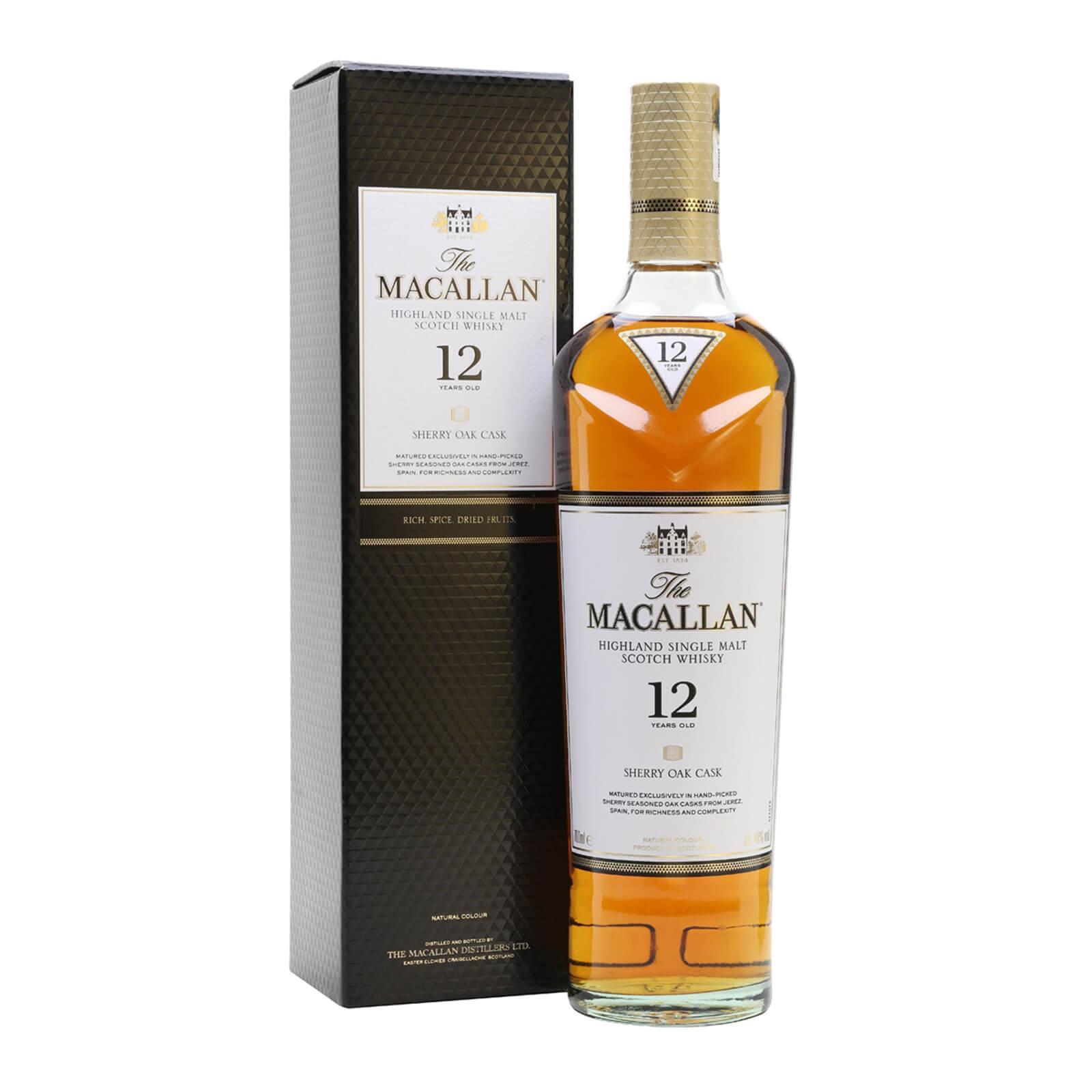 Macallan 12 Sherry Oak Whisky 70cl